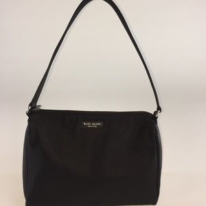 KATE SPADE NEW YORK BLACK NYLON MINI SHOULDER BAG